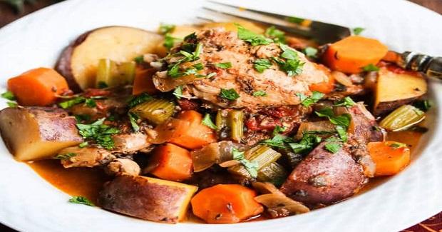 Slow Cooker Chicken Vegetable Stew Recipe