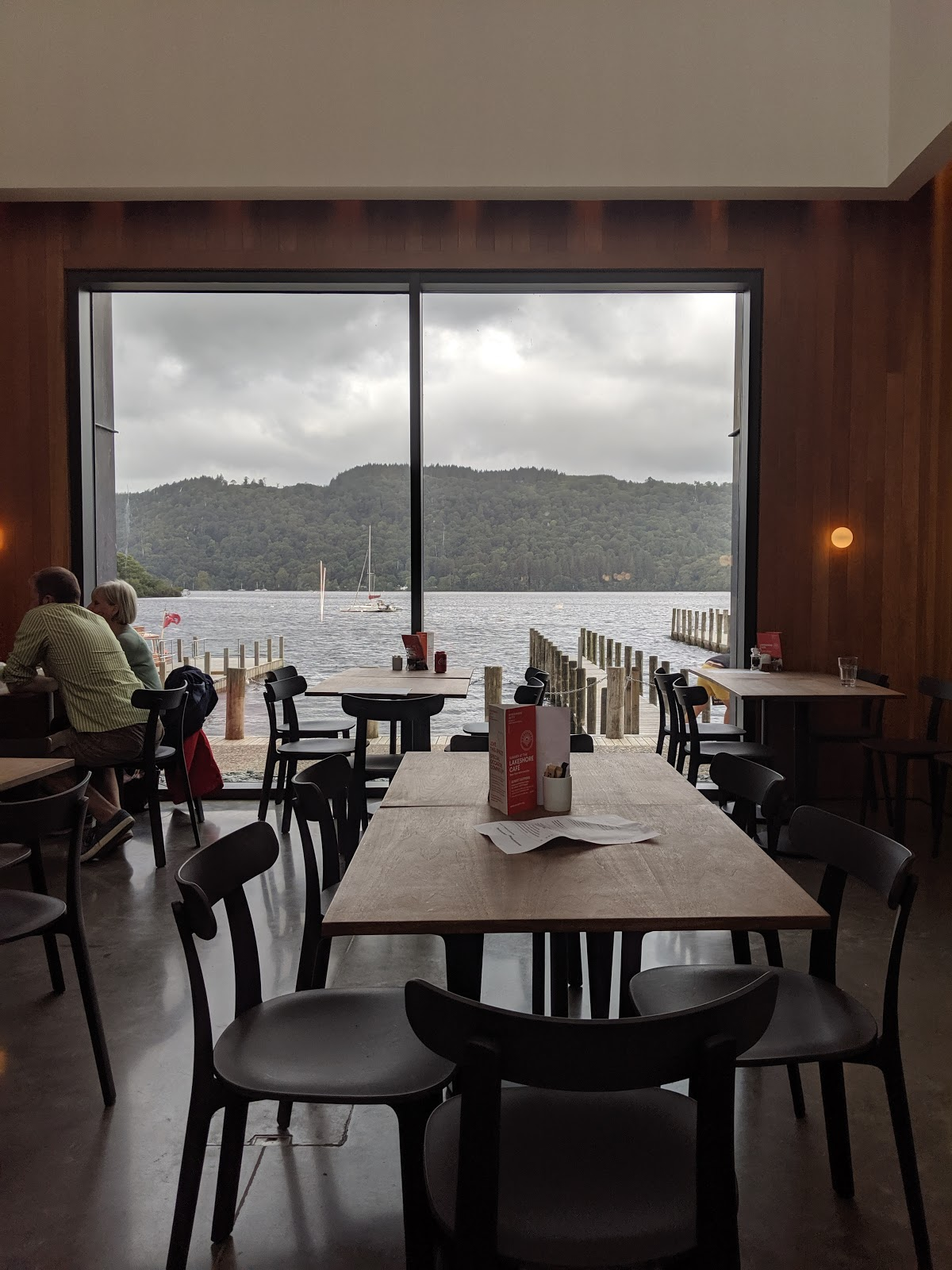 13 Reasons to Visit Windermere Jetty with Kids  - cafe views over lake