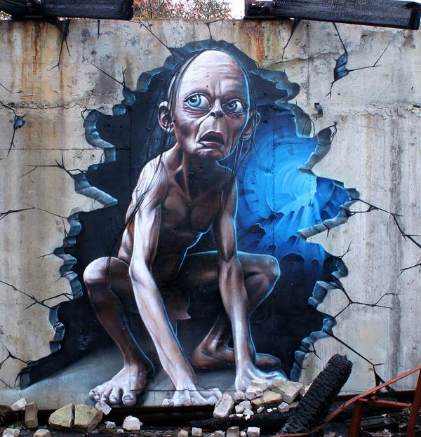 Grafiti atau Lukisan Dinding film , setan dan hantu