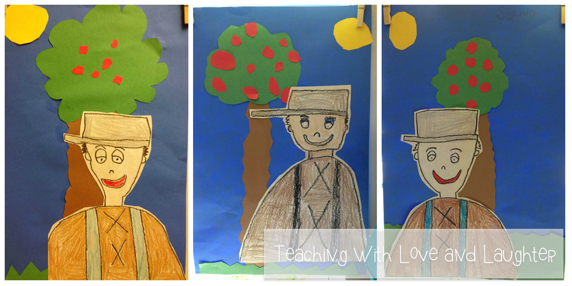 Teaching With Love And Laughter Fun No Prep Johnny Appleseed Craft