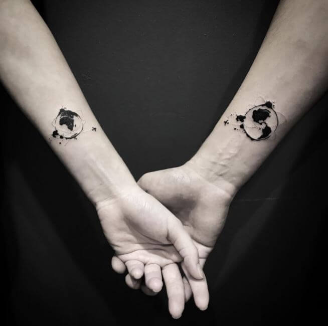 country Couple Tattoos