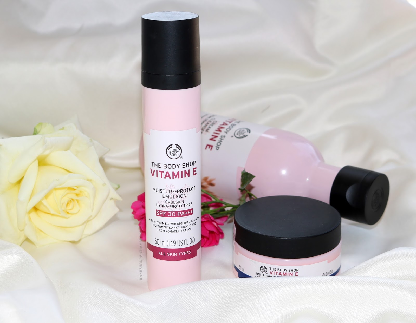 The Body Shop Vitamin E Range Review/ www.rakhshanda-chamberofbeauty.com/ skincare