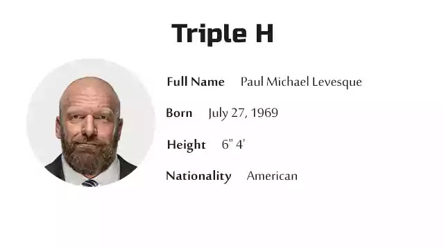 Triple H Biography History Net Worth And More