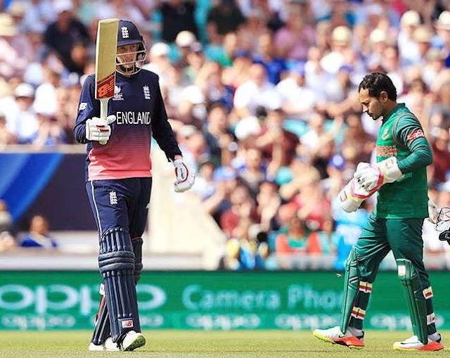 रूट का शानदार शतक - चेम्पियंस ट्रॉफी के पहले मुकाबले में इंग्लैंड ने बांग्लादेश को हराया