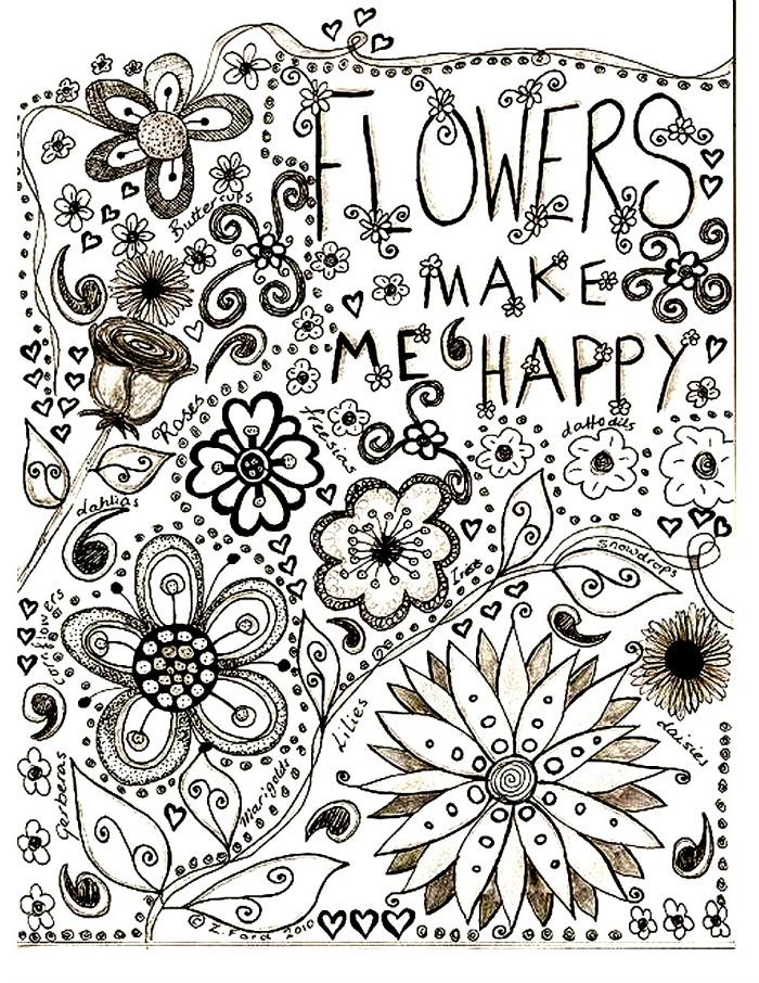 Lminas de flores para colorear  Guia de jardin Aprende a cuidar