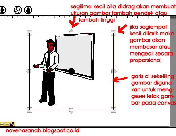 cara mengatur letak dan ukuran gambar image di VideoScribe tutorial menggunakan fitur pada tombol menu add image (tambah gambar) sebagai elemen video animasi di VideoScribe