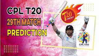 Jamaica vs Guyana CPL T20 29th 100% Sure Match Prediction