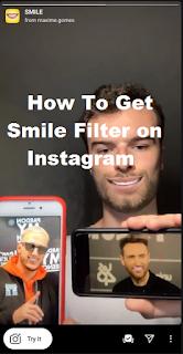 Lopsided smile filter || How to get smile filter Instagram