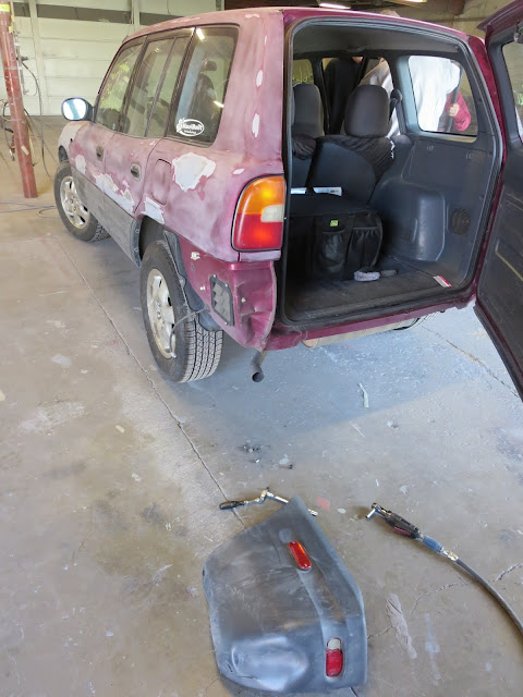 1997 RAV4 in process of repairs prior to paint at Almost Everything Auto Body