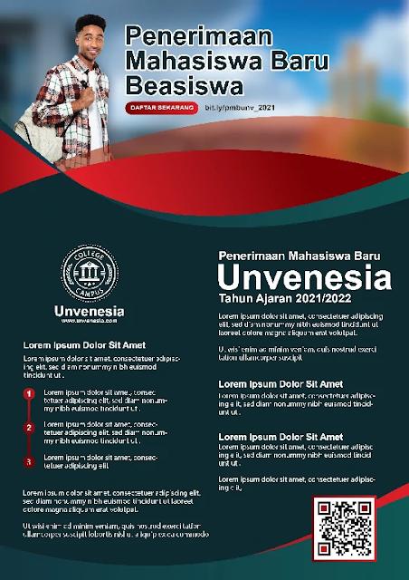 Download Brosur Mahasiswa Baru Coreldraw Merah Elegant Gratis