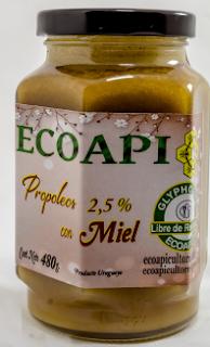 Propoleo con miel Ecoapi sin glifosato ecoapicultores