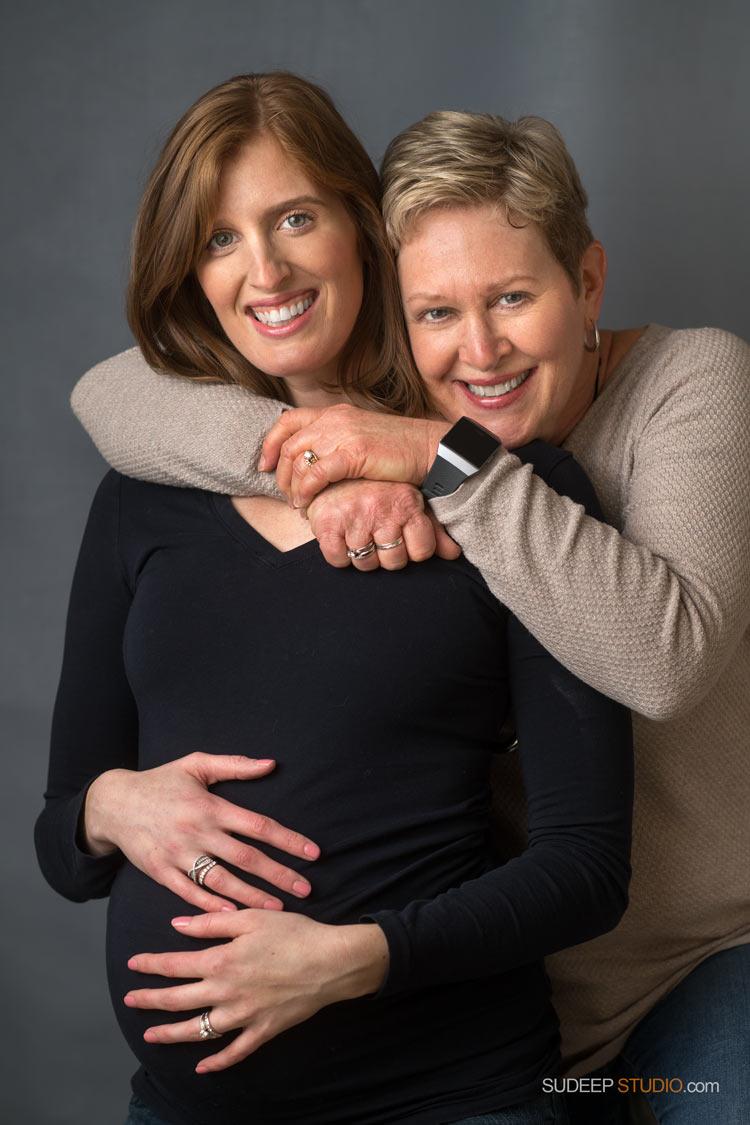 Mother Daughter Portraits Best Maternity Photography SudeepStudio.com Ann Arbor Maternity New Born Portrait Photographer
