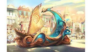 Moana Magic Happens Disneyland Parade Concept Art