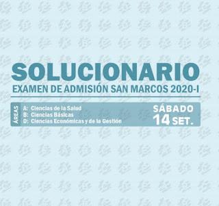 Solucionario del Examen de Admisión San Marcos 2020-I
