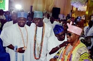 Checkout Cute Photo Of Billionaire Nigerians Oba Elegushi, Ooni Of Ife & Oluwo