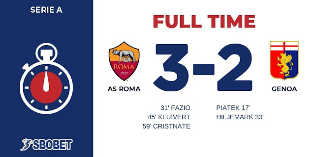 Replay Gol AS Roma vs Genoa Skor Akhir 3-2
