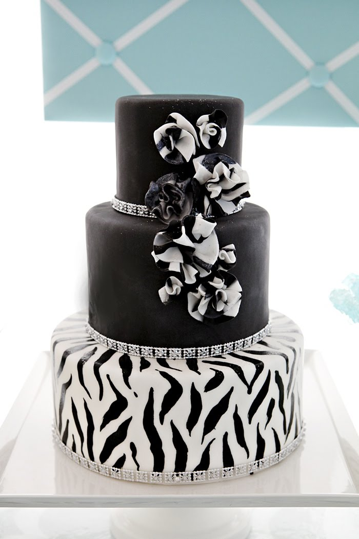 Tiffany Blue Amp Zebra Print Dessert Table The Couture Cakery