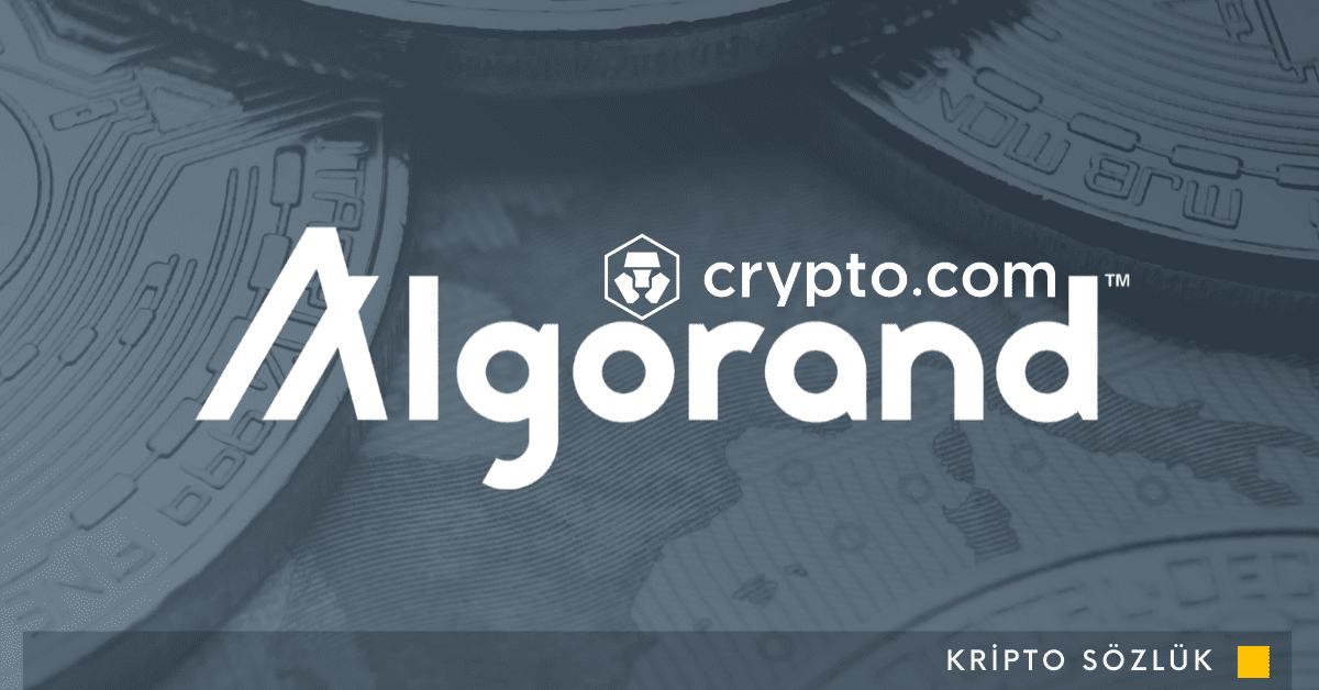50 Dolar Bonus Hediye Eden Cryptocom, ALGO İle %6.5 Kazanma Fırsatı Sunuyor!