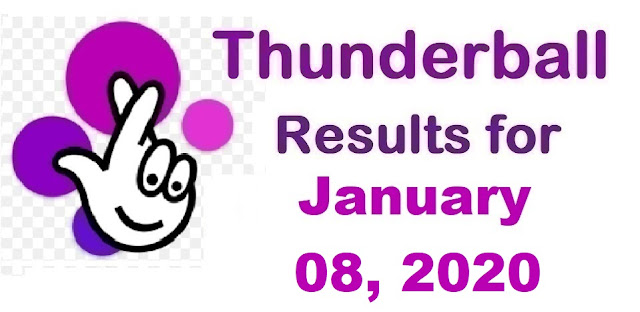 Thunderball Results for Wednesday, January 08, 2020