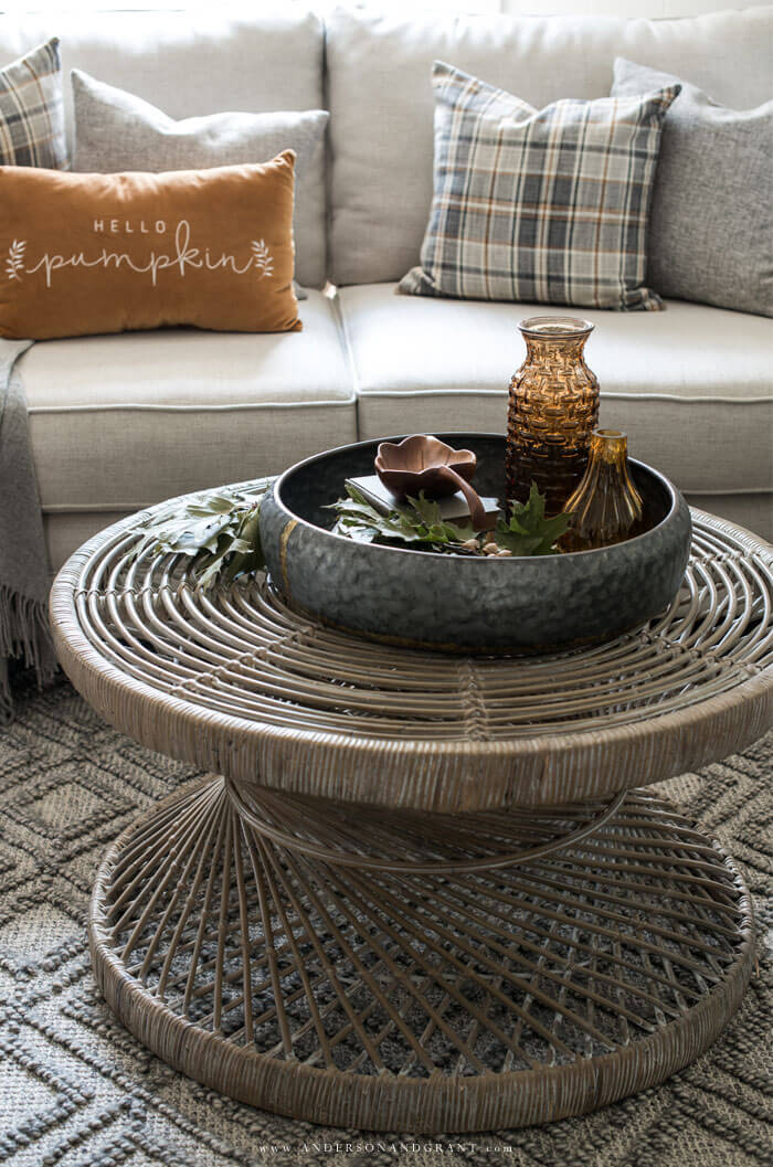 Fall is here and you must read this post for ideas about how to decorate your own modern farmhouse living room for the season.