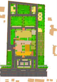 Site Plan of All India Institute of Unani Medicine Hospital, Ghaziabad by Archkala