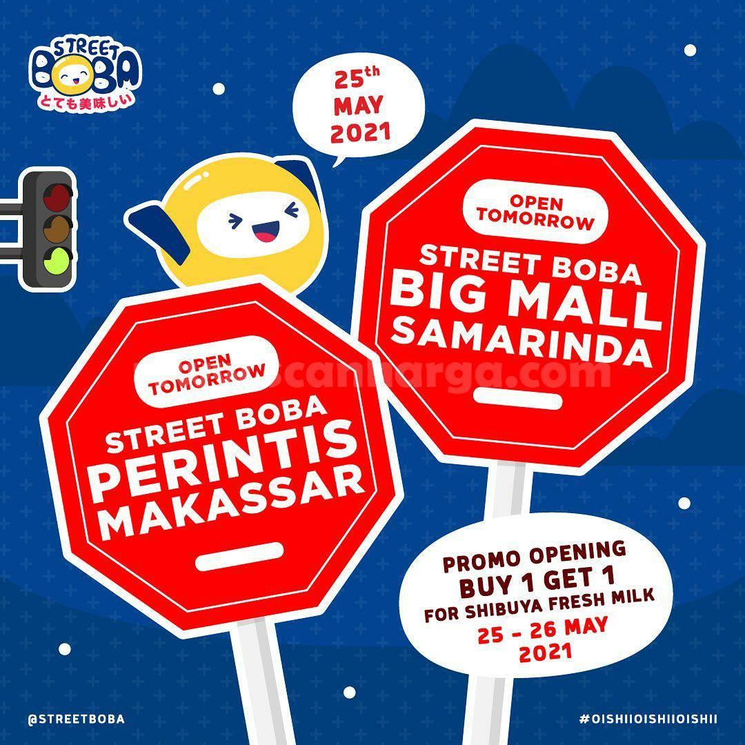 Street Boba Perintis Makassar & Big Mall Samarinda Opening Promo Beli 1 Gratis 1