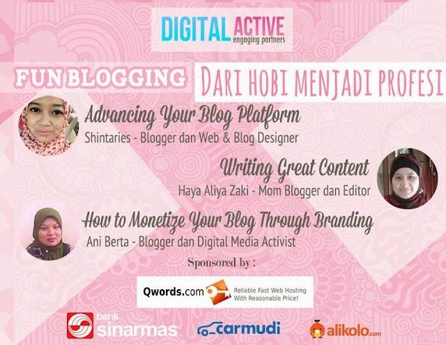 Fun Blogging Bikin Ngeblog Jadi Semakin Fun
