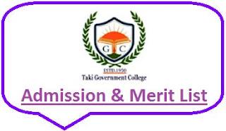 Taki College Merit List
