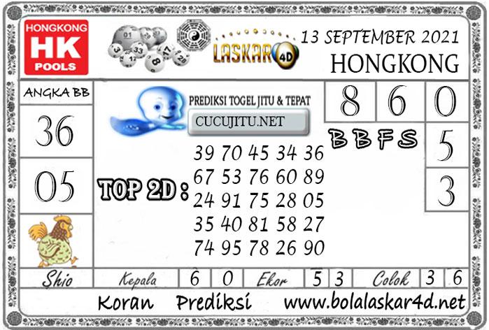 Prediksi Togel HONGKONG POOLS LASKAR4D 13 SEPTEMBER 2021
