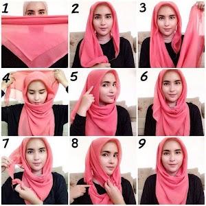 9+ Cara Memakai Jilbab Segi Tiga Terbaru 2018 Mudah & Modis