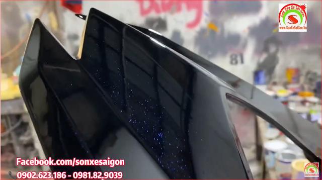 Mẫu sơn tem đấu Honda Winner 150 màu đen bóng pha lê cực đẹp