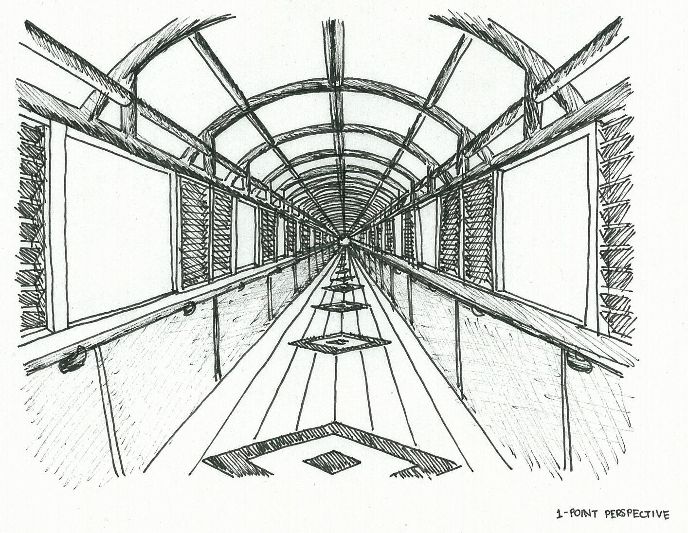 One Dimension Perspective Drawings