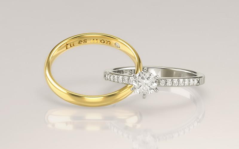 Diferença entre anel e aliança de noivado