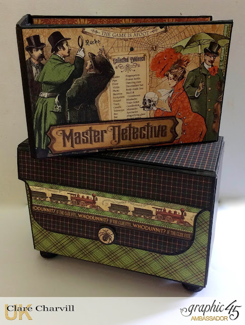 Master Detective ATC Box and Mini Album 1 Clare Charvill Graphic 45