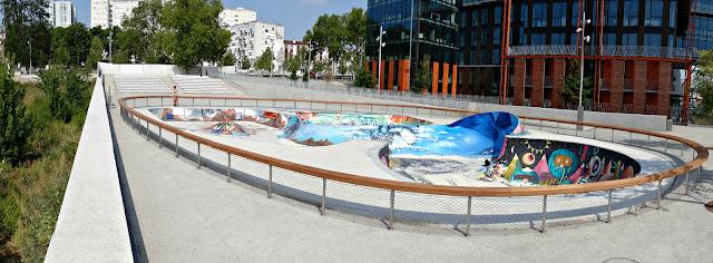 Nouveau skatepark grand parc saint ouen