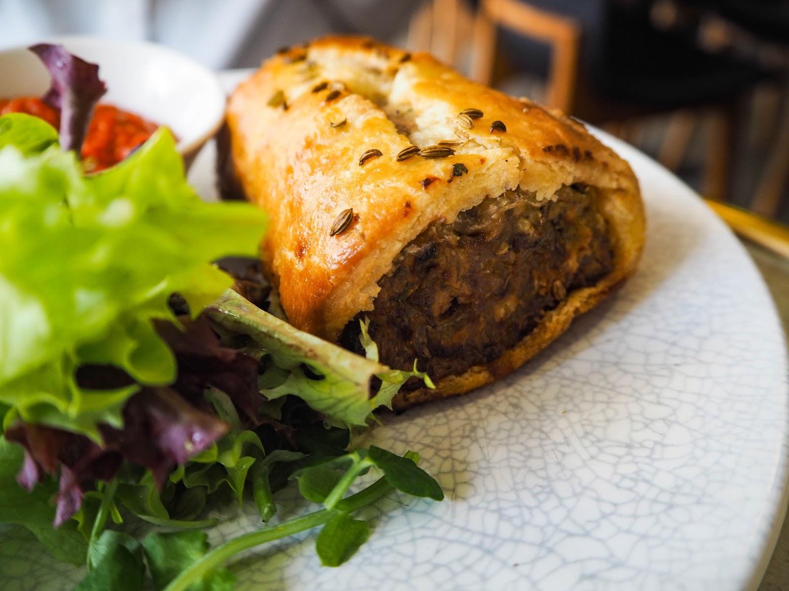 Moroccan lamb sausage roll