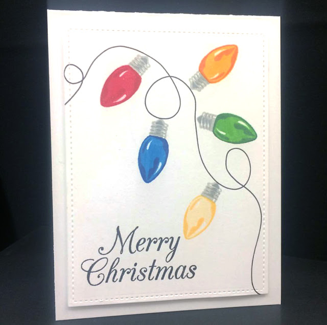 Sunny Studio Stamps: Sunny Saturday Merry Sentiments Die Card Share by Tasha K