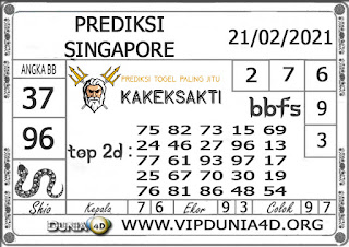 Prediksi Togel SINGAPORE DUNIA4D 21 FEBRUARI 2021