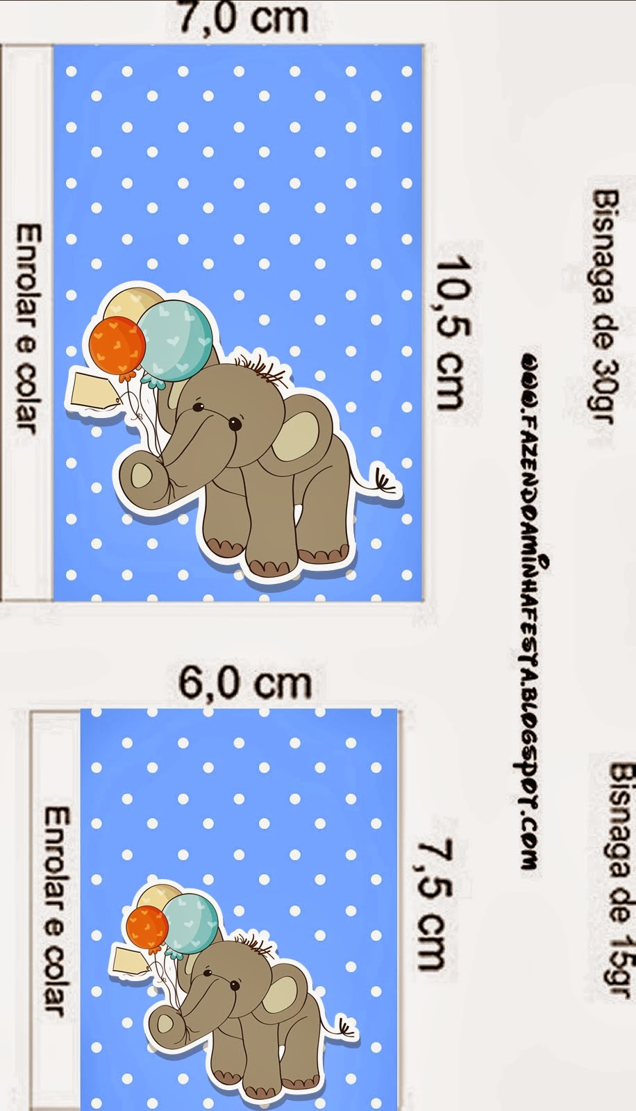 Lovely Elephant With Balloons Free Printable Candy Buffet Labels