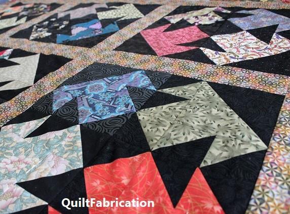 Kimono block layout with sashing