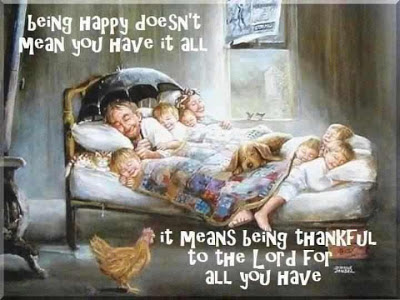 thankful quote, Lord quote, happy family, poor family, many children