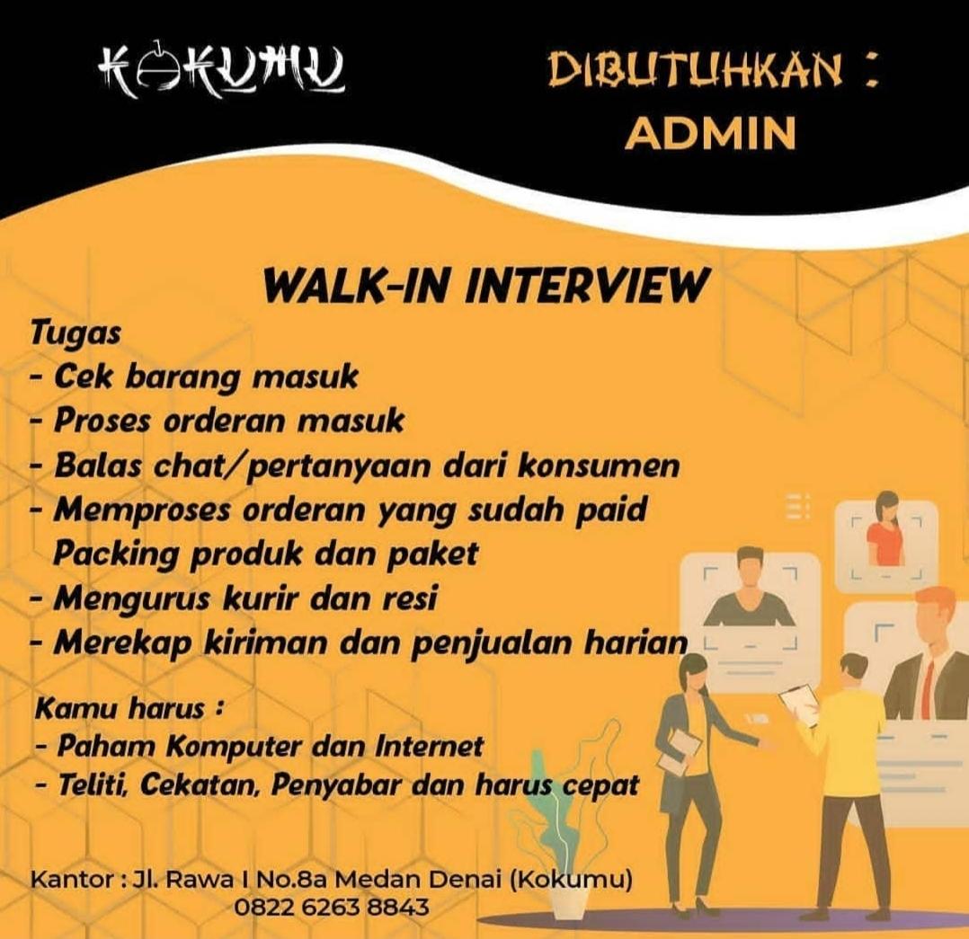 Lowongan Kerja Sma Smk D3 Di Kokumu Medan Februari 2021 Lowongan Kerja Medan Terbaru Tahun 2021