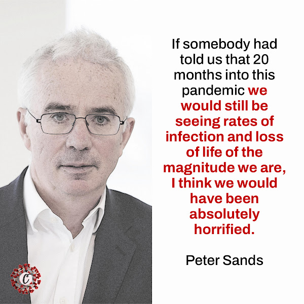 If somebody had told us that 20 months into this pandemic we would still be seeing rates of infection and loss of life of the magnitude we are, I think we would have been absolutely horrified. — Peter Sands, executive director of the Global Fund