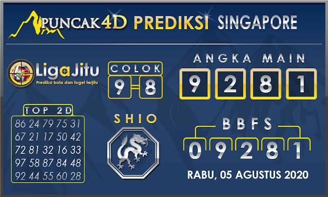 PREDIKSI TOGEL SINGAPORE PUNCAK4D 05 AGUSTUS 2020