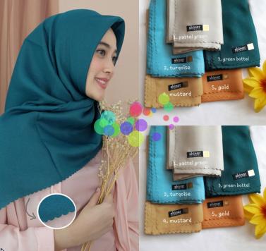 Jilbab Shinar Glamour Sonic PolySofter Segi Empat