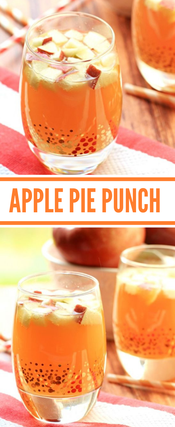 NON ALCOHOLIC APPLE PIE PUNCH #punch #driink #apple #healthydrink #cocktail