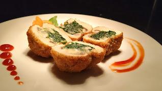 Mushroom duplex in garnished plate for mushroom Duplex recipe