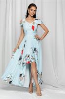 Rochie de ocazie Marisa bleu asimetrica
