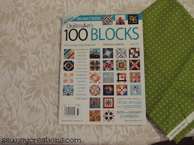 new Quiltmaker 100 blocks blog tour starts Nov 14