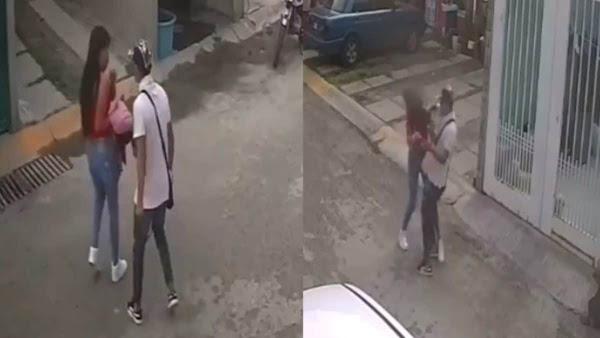 Sujeto golpea a su bella novia en calles de Ecatepec